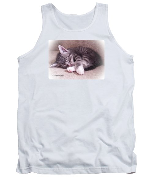 Sleepy Kitten Bymaryleeparker Tank Top by MaryLee Parker