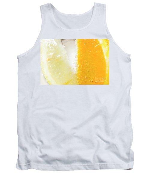 Slice Of Orange And Lemon In Cocktail Glass Tank Top