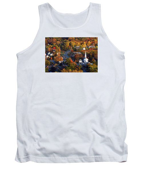 Small Town Aerial Tank Top by James Kirkikis