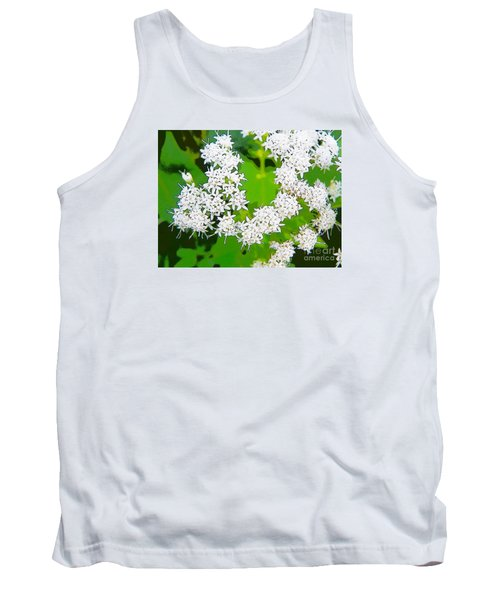 Small White Flowers Tank Top