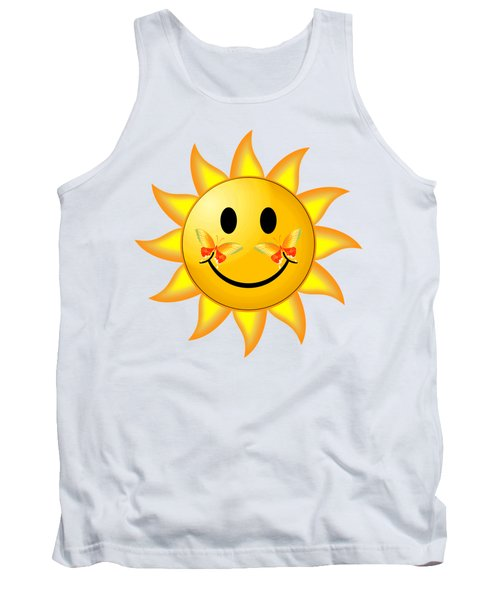 Tank Top featuring the digital art Smiley Face Sun by Robert G Kernodle