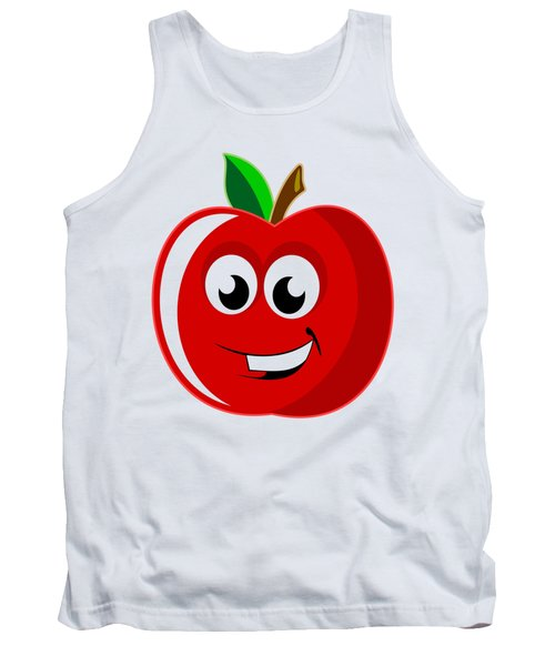Smiley Tomato With Changeable Background  Tank Top by Sebastien Coell