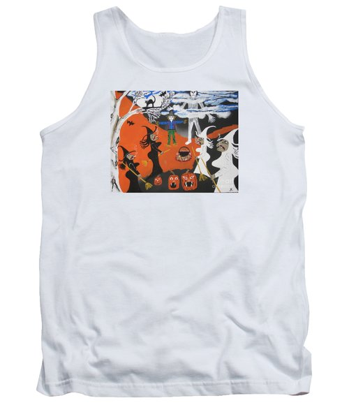Tank Top featuring the painting Smokey Halloween by Jeffrey Koss