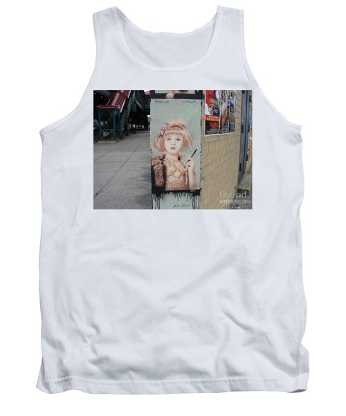 Tank Top featuring the photograph Smoking Girl  by Cole Thompson