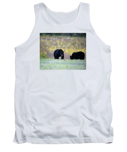 Smoky Mountain Black Bears Tank Top by Nature Scapes Fine Art