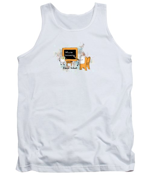Tank Top featuring the digital art Smore School Illustrated by Heather Applegate