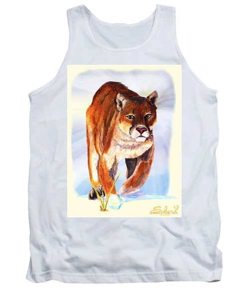 Snow Cougar Tank Top