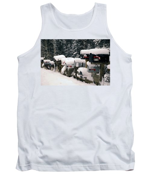 Snow Covered Mailboxes Tank Top