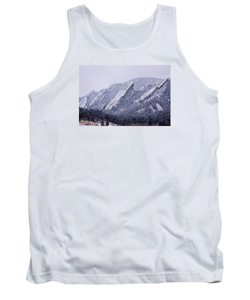 Snow Dusted Flatirons Boulder Colorado Tank Top by James BO  Insogna