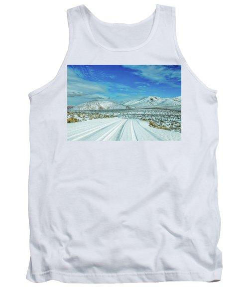 Snow In Death Valley Tank Top