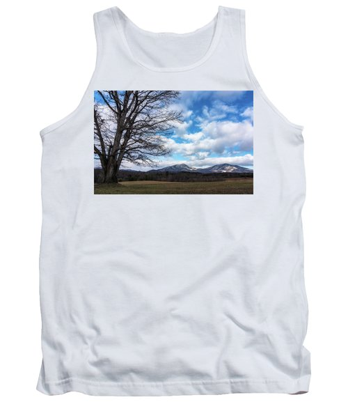 Snow In The High Mountains Tank Top by Steve Hurt