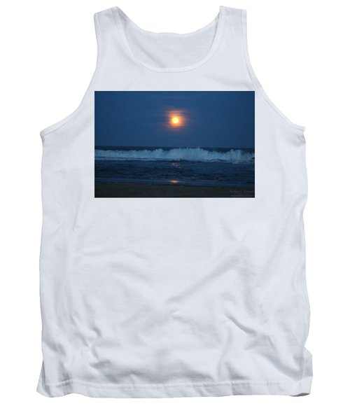 Snow Moon Ocean Waves Tank Top
