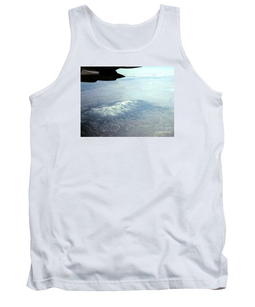 Snow On The Mountains Flying To Alaska Tank Top by Merton Allen