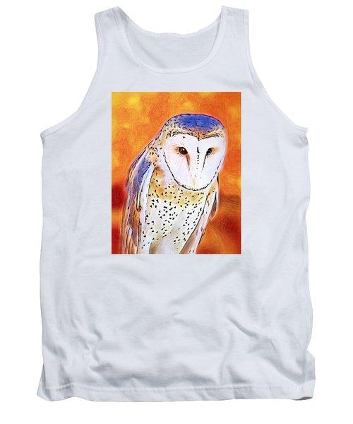 White Face Barn Owl Tank Top