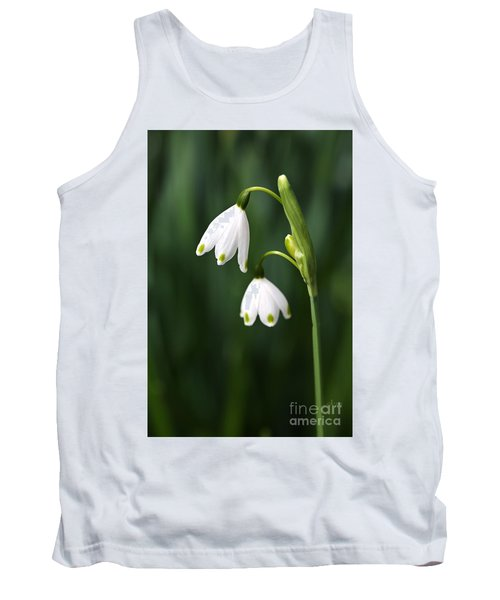 Snowdrops Painted Finger Nails Tank Top