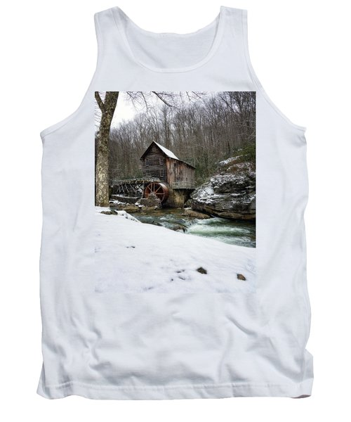 Snowing At Glade Creek Mill Tank Top