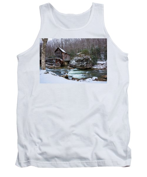 Snowing At The Mill  Tank Top by Steve Hurt