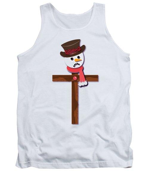 Snowman Christian Cross Tank Top by Reggie Hart