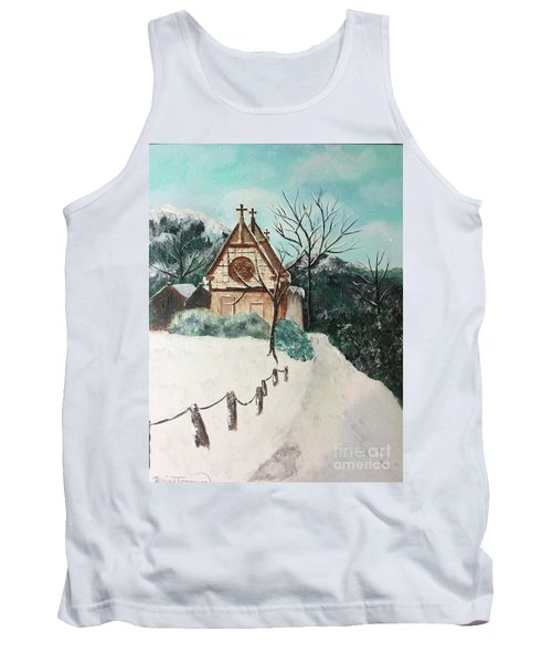 Tank Top featuring the painting Snowy Daze by Denise Tomasura
