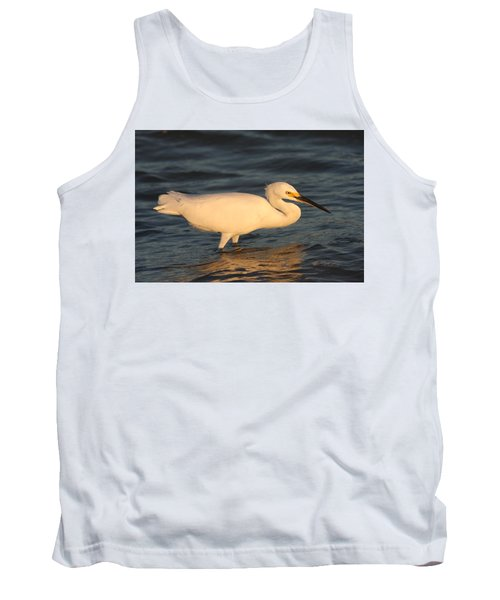 Snowy Egret By Sunset Tank Top by Christiane Schulze Art And Photography