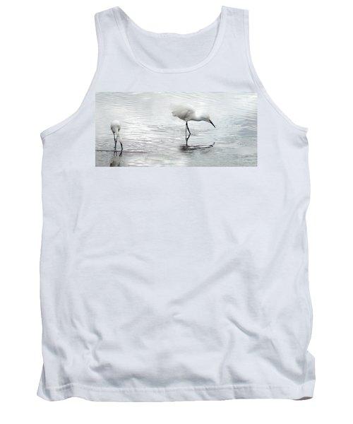 Snowy Egrets Tank Top