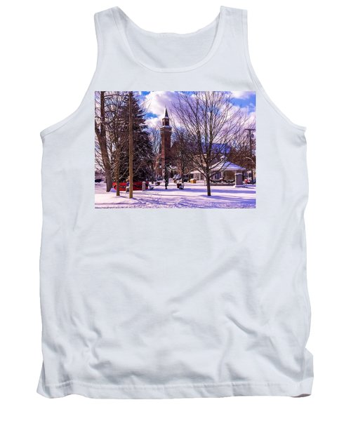 Snowy Old Town Hall Tank Top