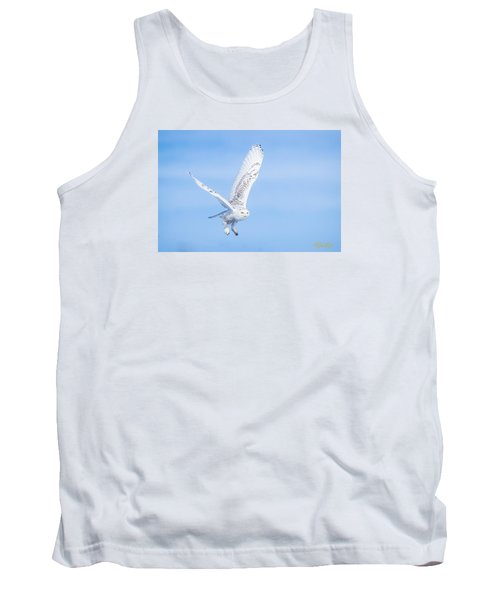 Tank Top featuring the photograph Snowy Owls Soaring by Rikk Flohr