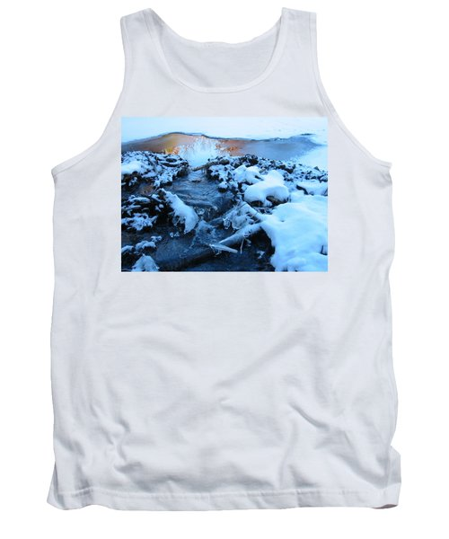 Snowy Reflections Tank Top by Angela Murray