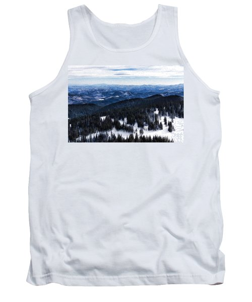 Snowy Ridges - Impressions Of Mountains Tank Top