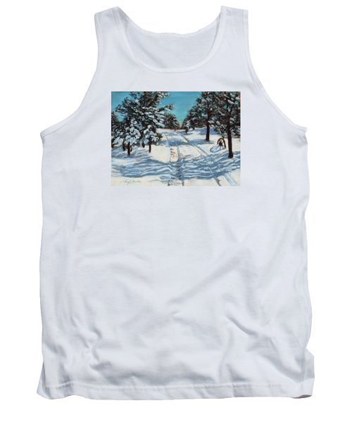 Snowy Road Home Tank Top
