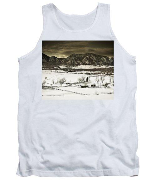 Snowy Sunset Tank Top