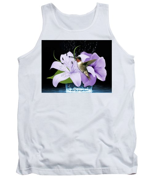 Tank Top featuring the mixed media Soaring Hummingbird by Marvin Blaine