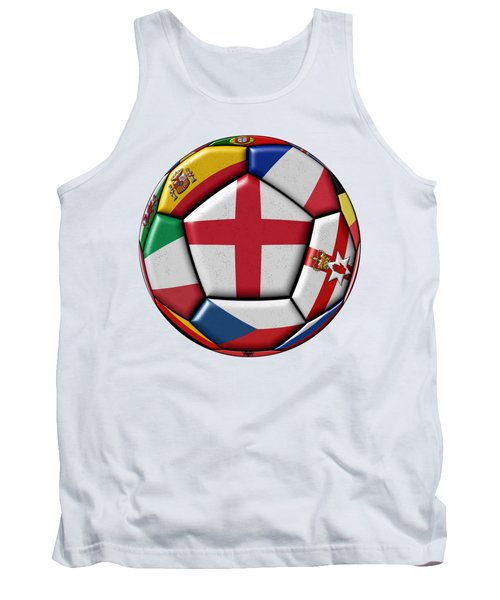 Soccer Ball With Flag Of England In The Center Tank Top by Michal Boubin