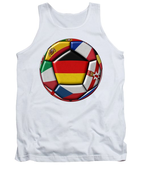 Soccer Ball With Flag Of German In The Center Tank Top by Michal Boubin