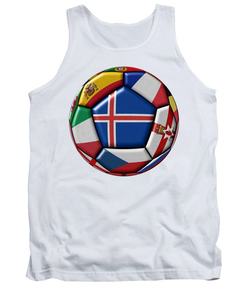 Soccer Ball With Flag Of Iceland In The Center Tank Top