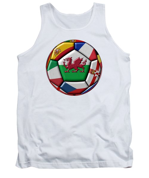 Soccer Ball With Flag Of Wales In The Center Tank Top by Michal Boubin