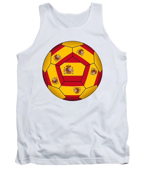 Soccer Ball With Spanish Flag Tank Top