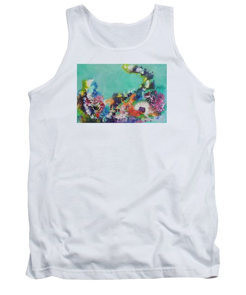 Tank Top featuring the painting Soft And Hard Corals by Lyn Olsen