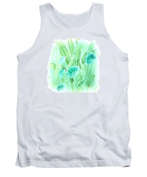 Soft Watercolor Floral Tank Top by Judy Palkimas