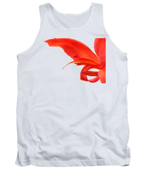 Softly Red Canna Lily Tank Top by Debbie Oppermann