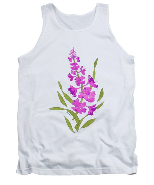 Solo Fireweed Shirt Image Tank Top by Teresa Ascone