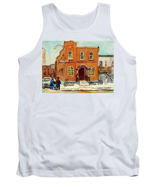 Solomons Temple Montreal Bagg Street Shul Tank Top