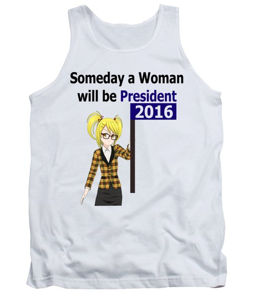 Some Day Woman President Shower Curtain Tank Top by Mac Pherson