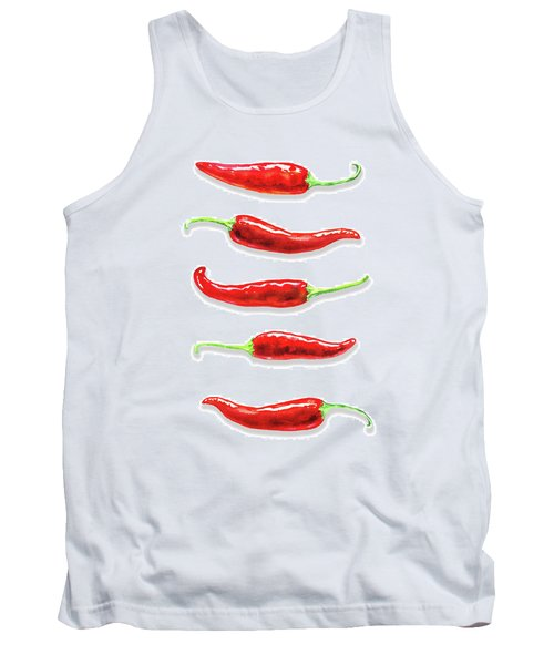Tank Top featuring the painting Some Likes It Hot Red Chili  by Irina Sztukowski