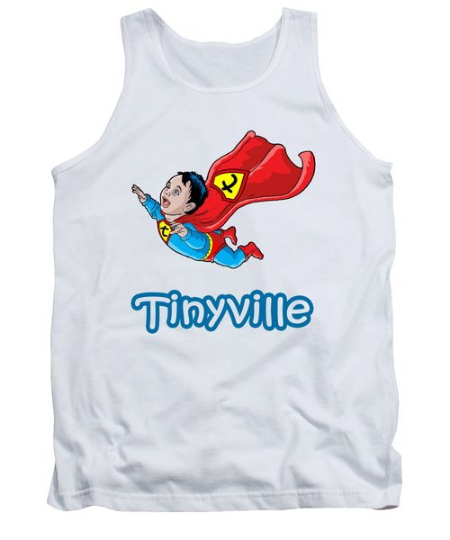 Tank Top featuring the digital art Son Of Superman by Anthony Mwangi