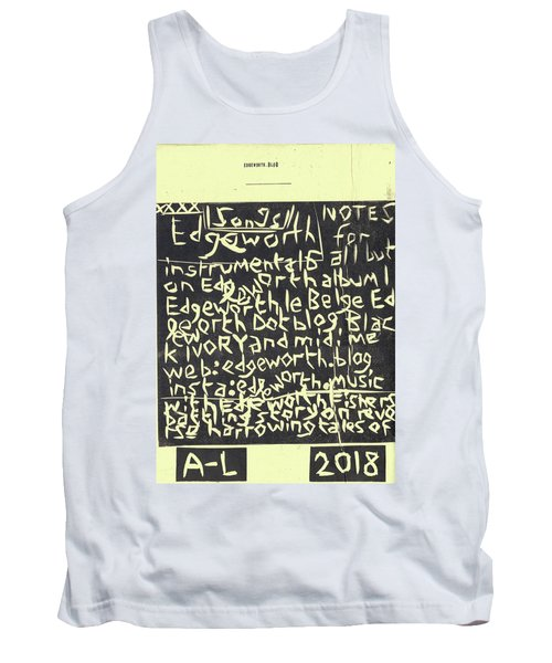 Song Notes Title Page A-l Tank Top