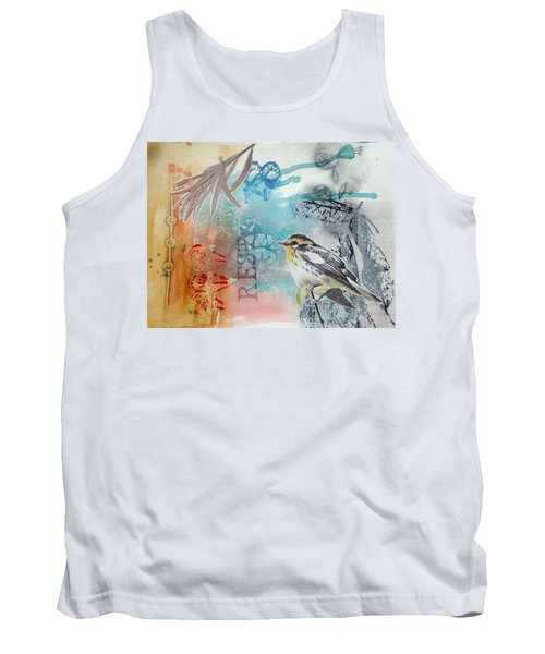 Tank Top featuring the mixed media Song Of Life  by Rose Legge
