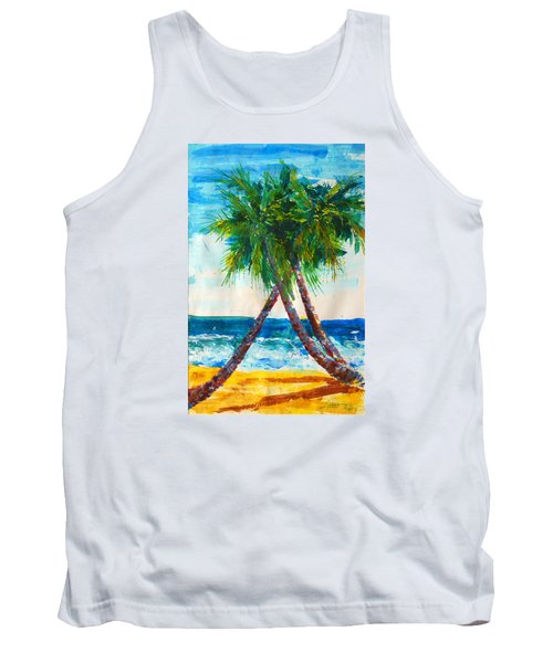 South Beach Palms Tank Top