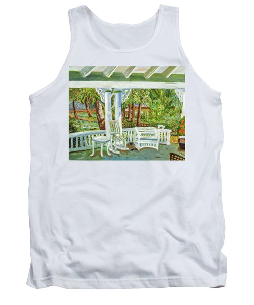 Tank Top featuring the painting Southern Porches by Margaret Harmon
