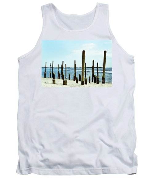 Southport Beach Weathered Wood Tank Top